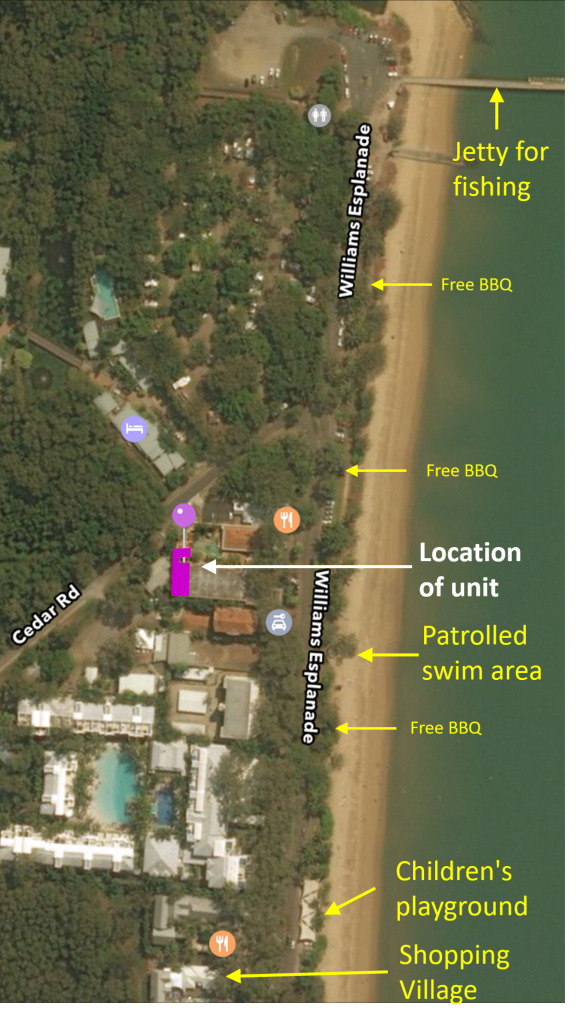 Palm Cove Holiday unit location